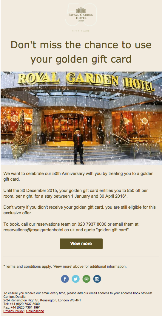 This email helped the hotel get 51 direct bookings